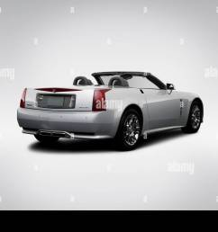 2009 cadillac xlr platinum in silver rear angle view stock image [ 1300 x 956 Pixel ]
