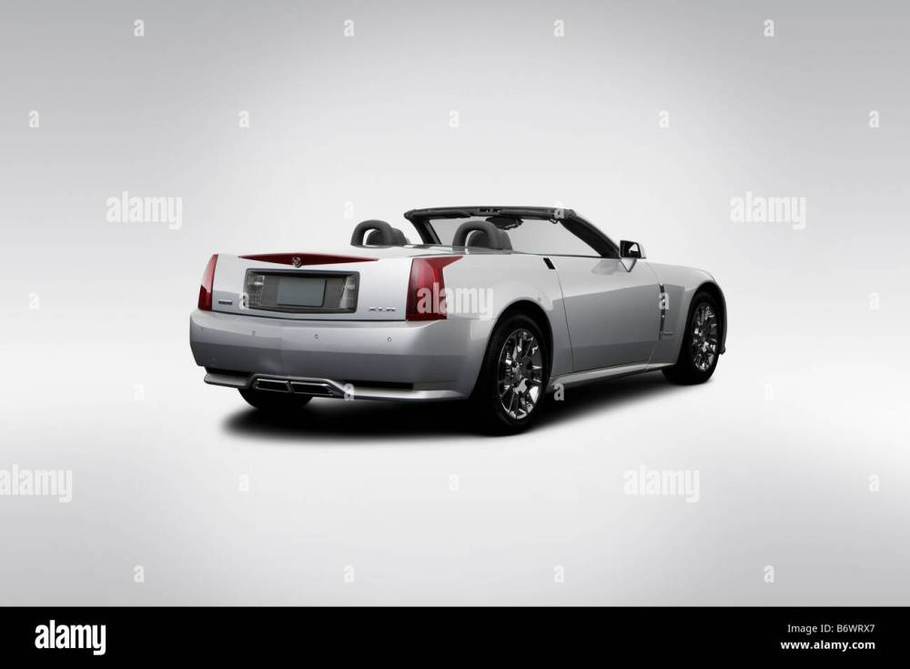 medium resolution of 2009 cadillac xlr platinum in silver rear angle view stock image