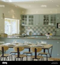 Modern table and chairs in traditional kitchen dining room ...