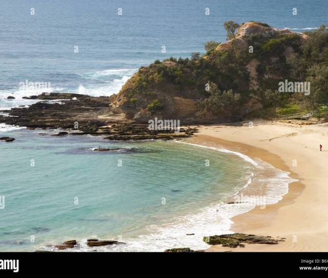 Shelly Beach Nambucca Heads From Captain Cook Lookout New South Wales Australia