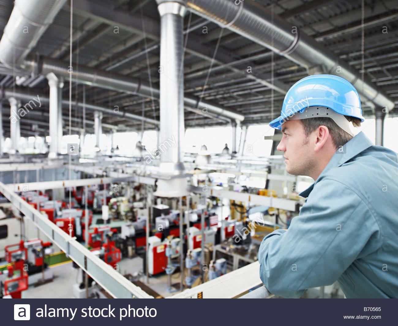 factory worker in hard