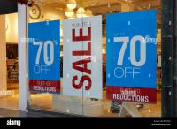 Sales Sign Store Window Stock Photos & Sales Sign Store ...