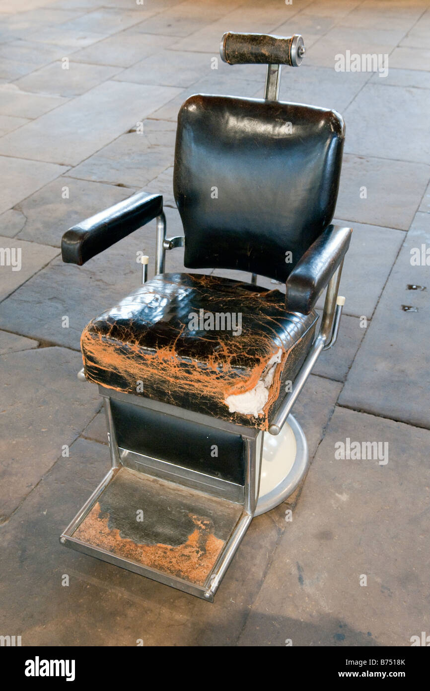 vintage dentist chair styles of chairs upholstered old dental stock photos images alamy worn black leather dentists image