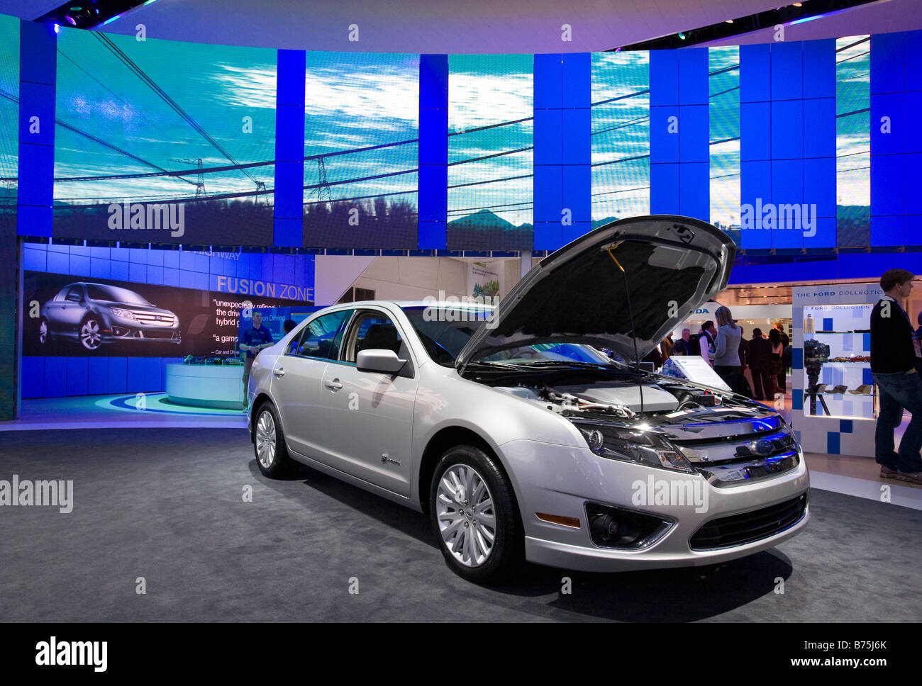 hight resolution of detroit michigan the ford fusion hybrid on display at the north american international auto show