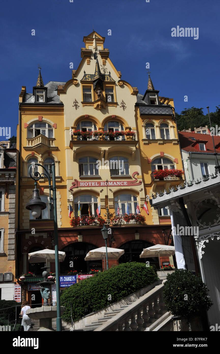 Romantic Hotel In Spa Karlovy Vary Czech Republic Stock