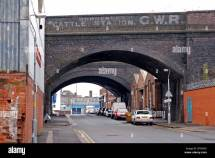 Railway Arches Digbeth Birmingham England Uk Stock