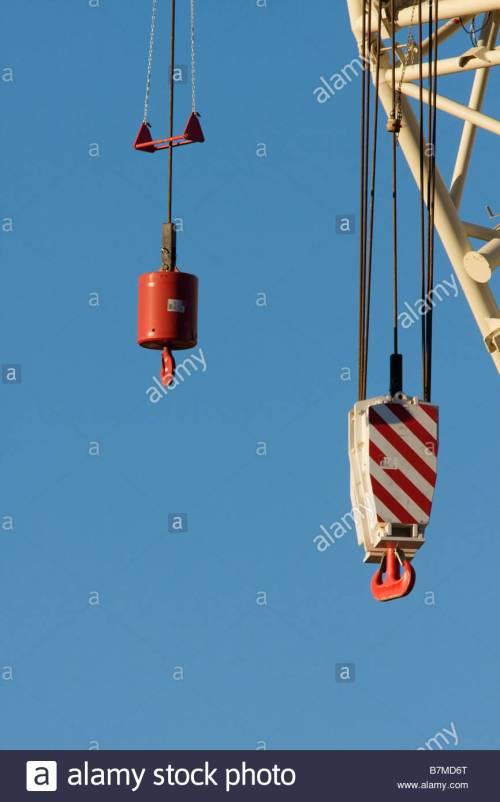 small resolution of heavy crane hook block stock image