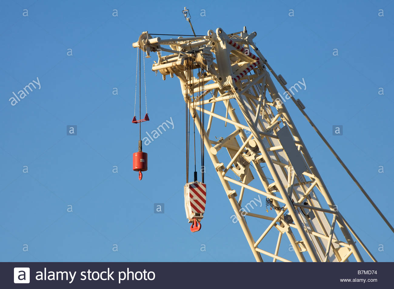hight resolution of heavy crane hook block stock image