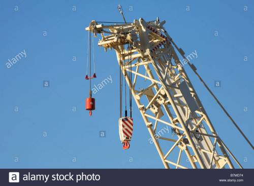 small resolution of heavy crane hook block stock image