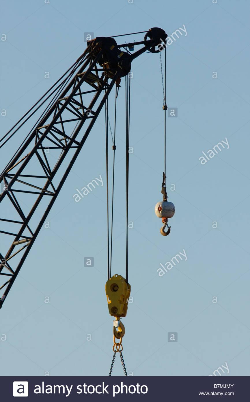 hight resolution of heavy crane hook block stock image