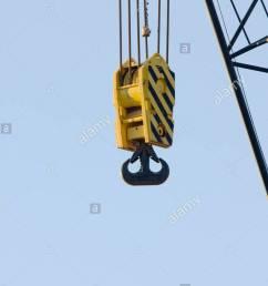 heavy crane hook block stock image [ 866 x 1390 Pixel ]
