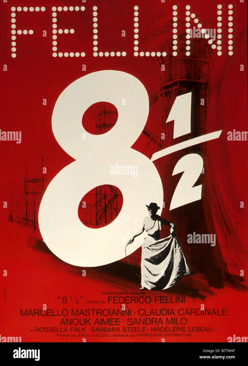 8 1/2 Fellini : fellini, Year:, Italy, Director, Federico, Fellini, Movie, Poster, Stock, Photo, Alamy