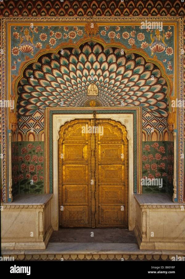 Beautiful Murals Door In Jaipur City Palace