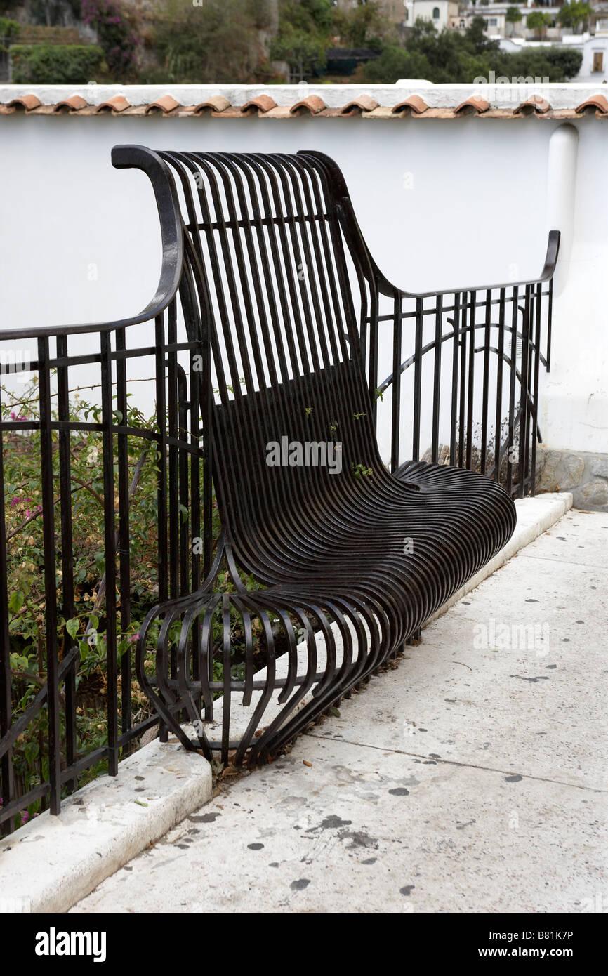 wrought iron bench seat