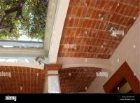 typical Mexican arched brick ceiling construction in a ...