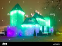 Ice Palace Winter Carnival Quebec City Canada Stock