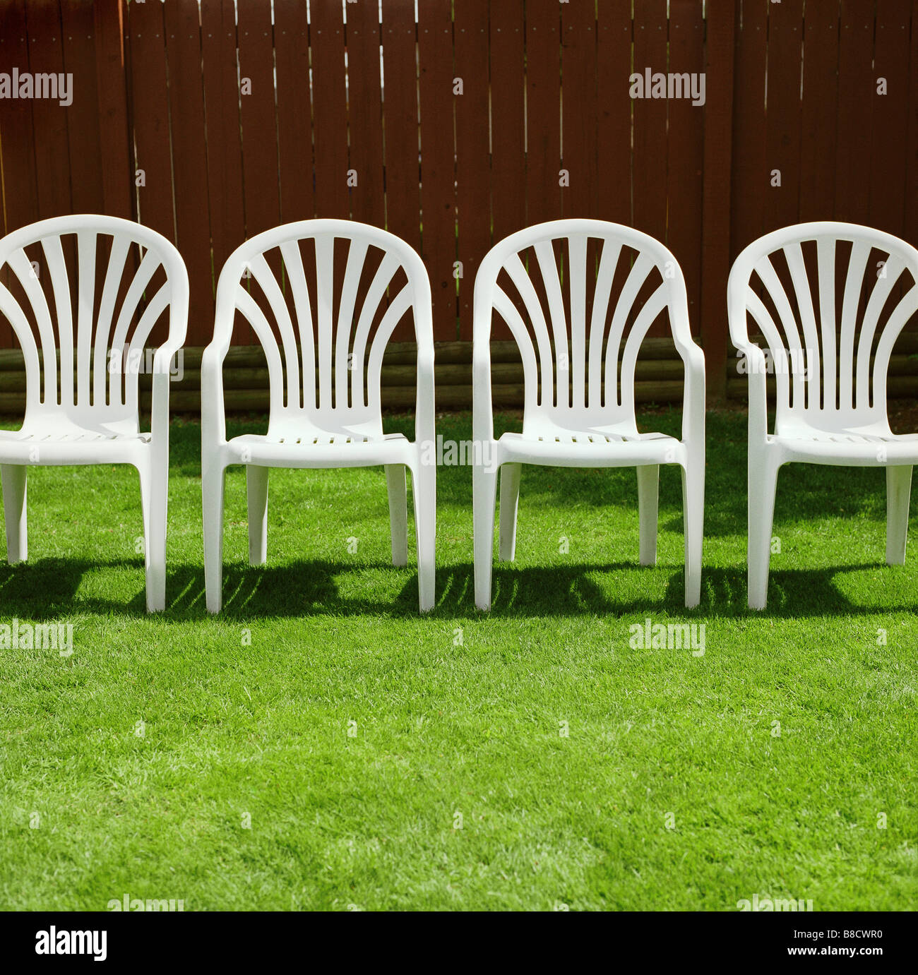 white lawn chairs plastic dining room chair covers on ebay stock photo 22411284 alamy