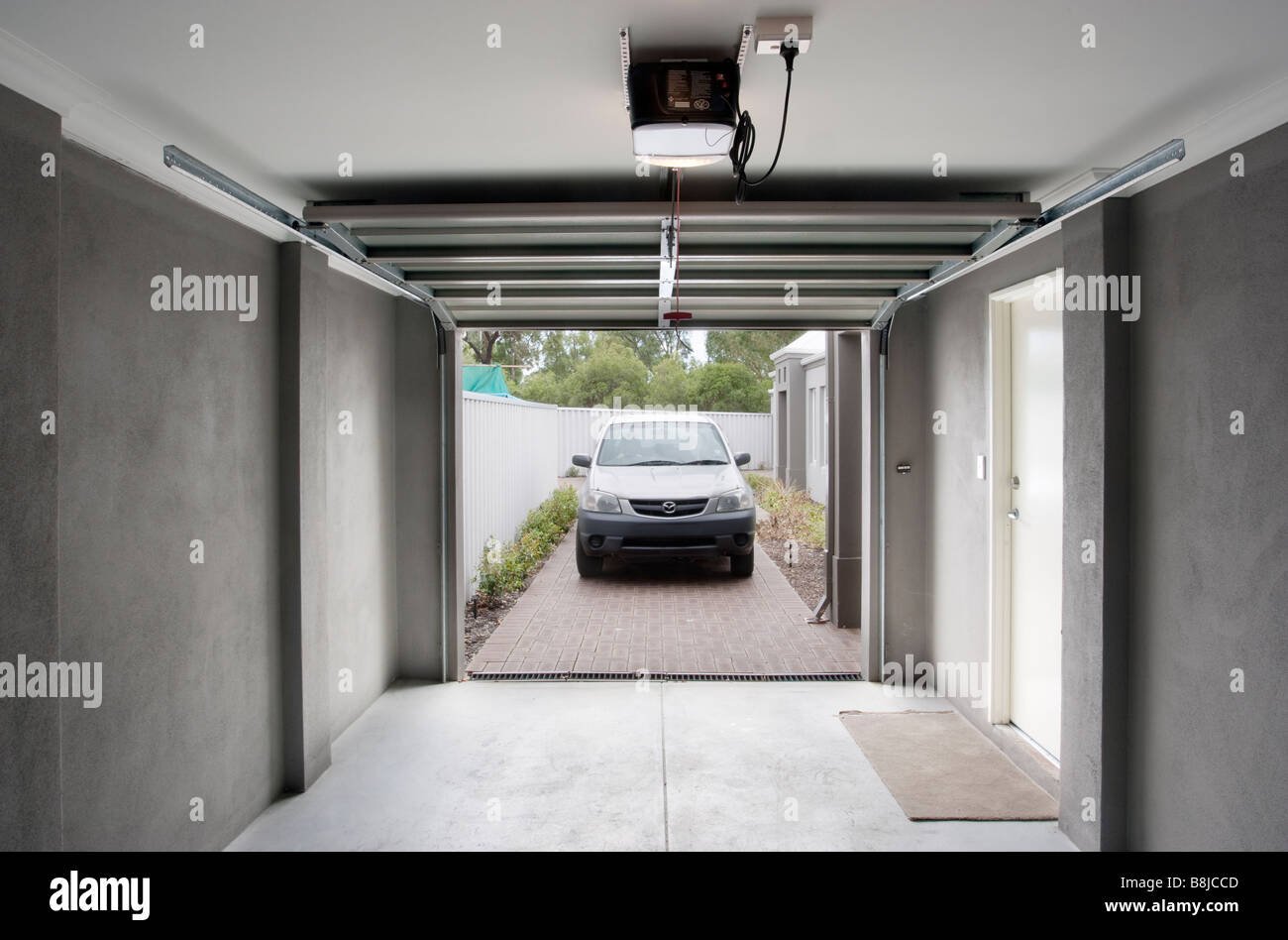 Automatic Garage Door And Fireplace