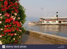Gardone Riviera Garda Lake Stock &