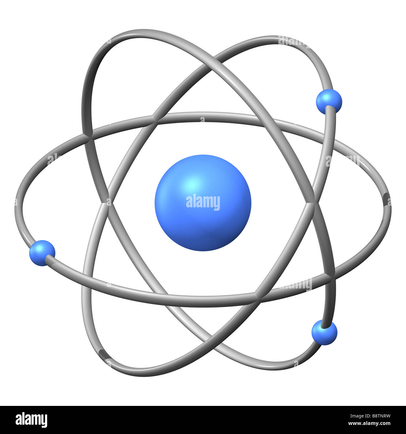 hight resolution of 3d model of an atom against a white background