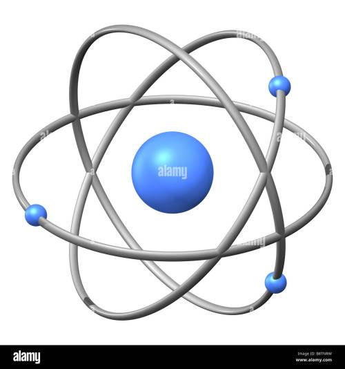 small resolution of 3d model of an atom against a white background