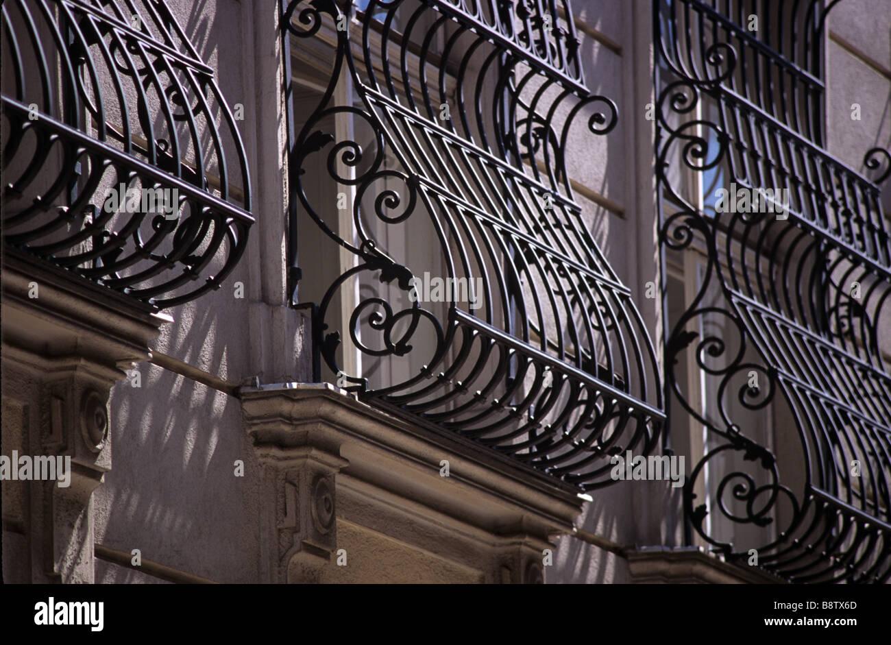 Ornate Scroll Design Wrought Iron Window Grills, Vienna