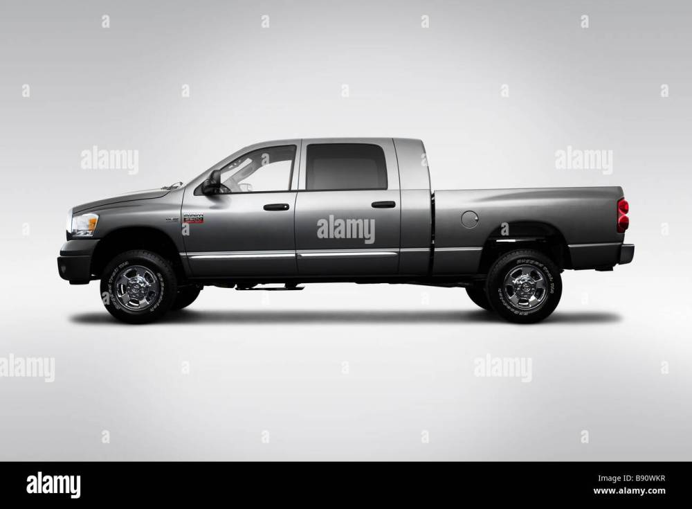 medium resolution of 2009 dodge ram 2500 laramie in gray drivers side profile stock image