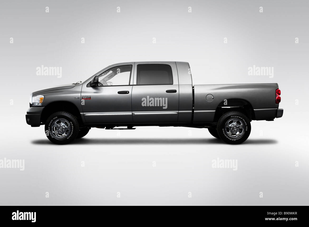 hight resolution of 2009 dodge ram 2500 laramie in gray drivers side profile stock image