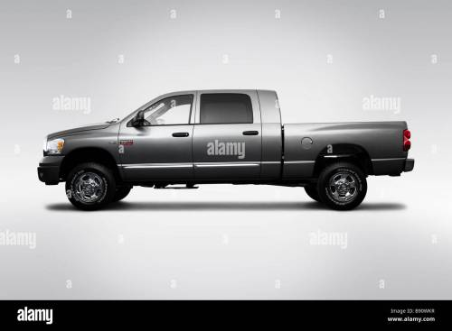 small resolution of 2009 dodge ram 2500 laramie in gray drivers side profile stock image