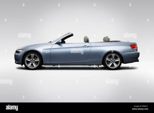 small resolution of 2009 bmw 3 series 335i in blue drivers side profile stock image
