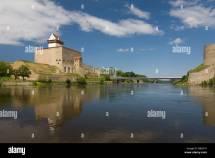 Russian Estonian Border Stock &