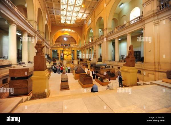 Egypt Cairo Egyptian Museum Interior Of