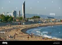 Villa Olimpica Nova Icaria Beach Barcelona Spain Stock