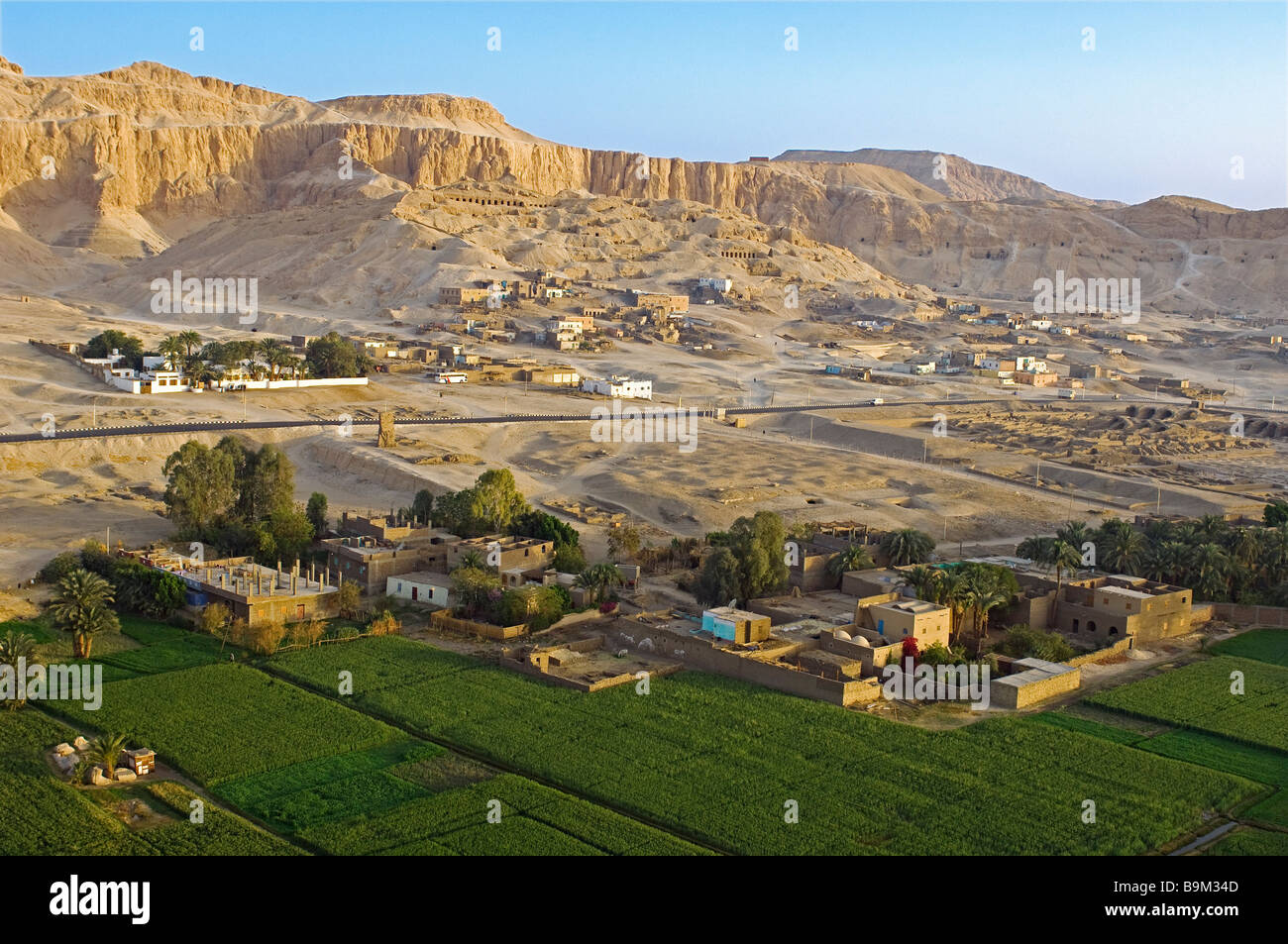 Egypt Nile Valley Luxor Western Bank Thebes Necropolis Nobles Stock Photo