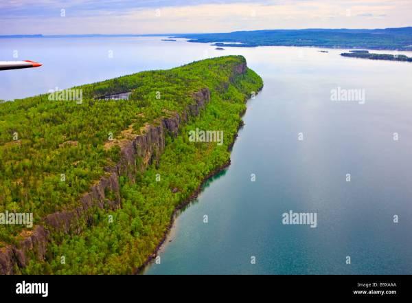 Cliffs Coastline Of Caribou Island Lake Superior Ontario Stock 23321154 - Alamy
