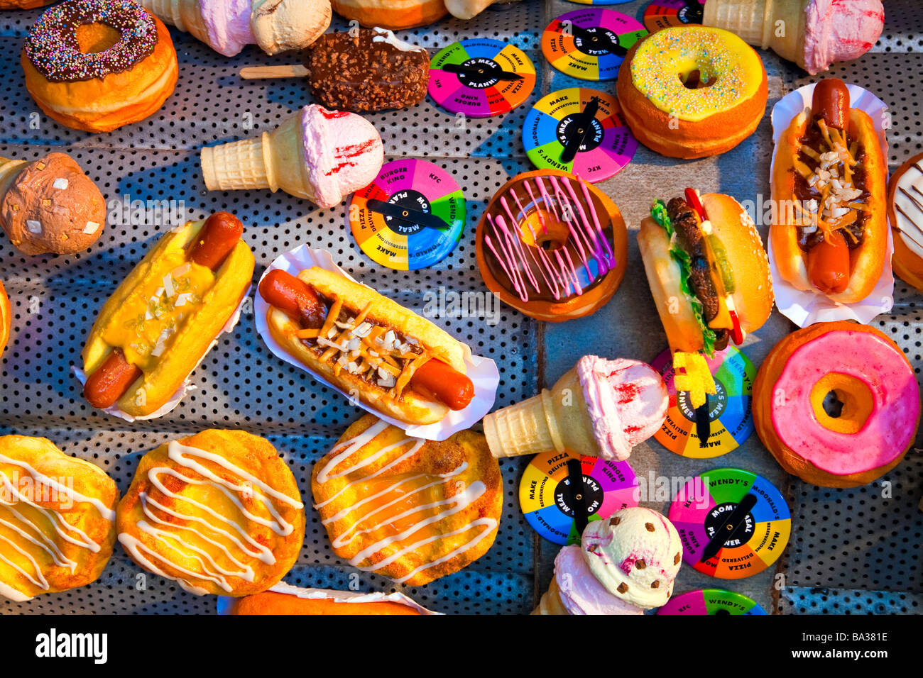 Unhealthy Food Or Junk Food Or Fast Food Like Stock Photo