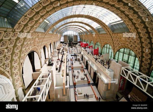 Main Hall Of Mus 'orsay Train Station Gare Stock 23463509 - Alamy