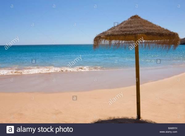Beach Umbrella Tropical Stock 23496469 - Alamy