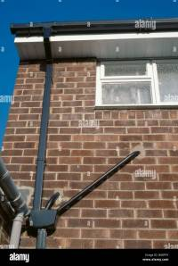 UPVC plastic rainwater goods; downpipe, guttering, pipes ...