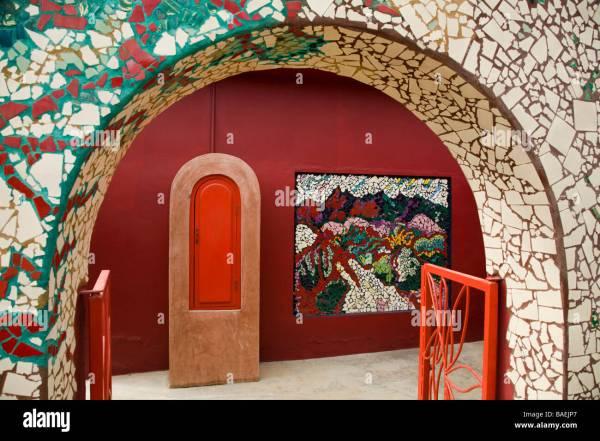 Mexico Todos Santos Ceramic Tile Mosaic Form Arch Art Stock Royalty Free