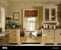 Window sitting area in a kitchen Stock Photo, Royalty Free ...
