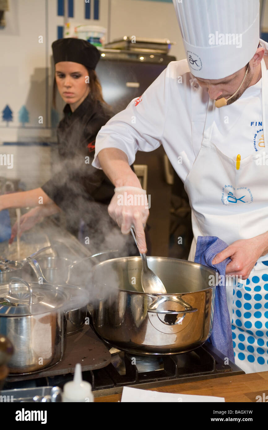 kitchen maid discount cook stock photos images alamy chef and busy in the image