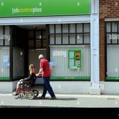 Wheelchair Jobs Glider Chair Cushions Replacement Job Centre Disabled Woman In Visiting With Her