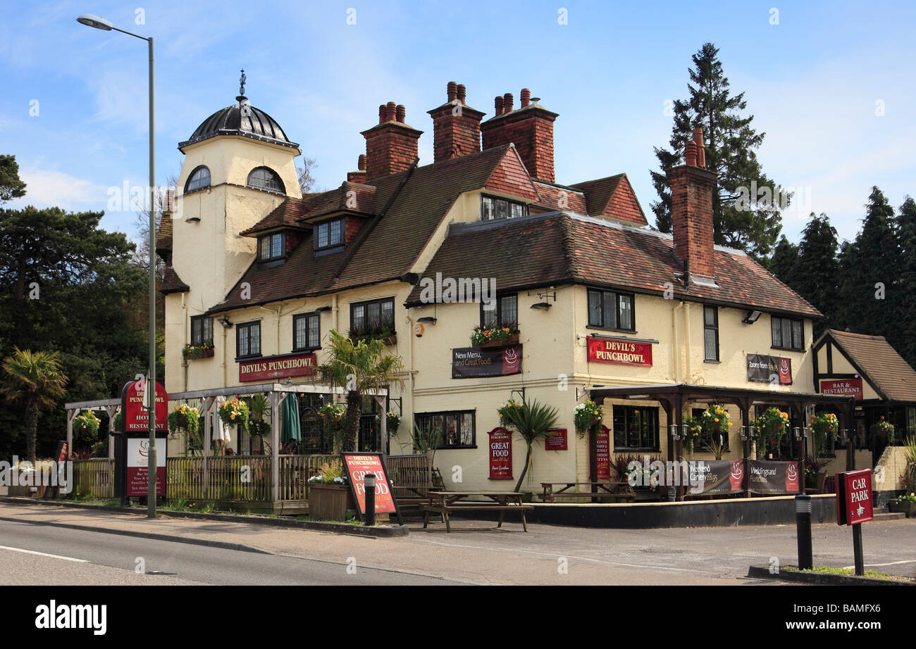 The Devils Punch Bowl Hotel Hindhead Surrey England Uk