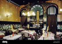 Antiquated Dining-hall With Bar In Catalan Art Nouveau