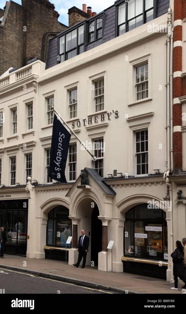 Sotheby Fine Art Auction House Bond Street London Uk