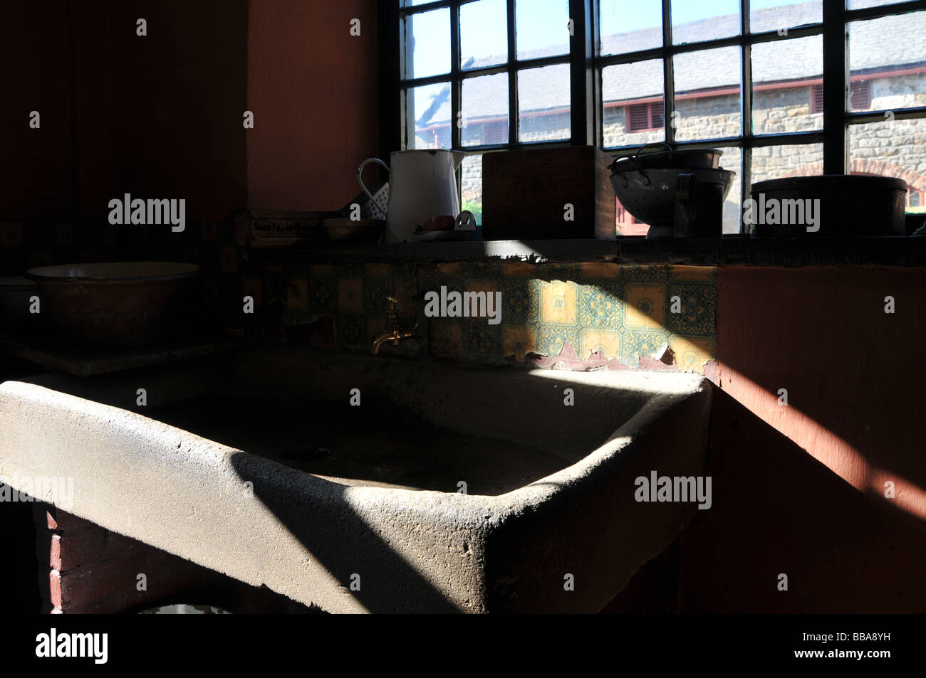 cement kitchen sink how to build a outdoor old stock photo 24198149 alamy
