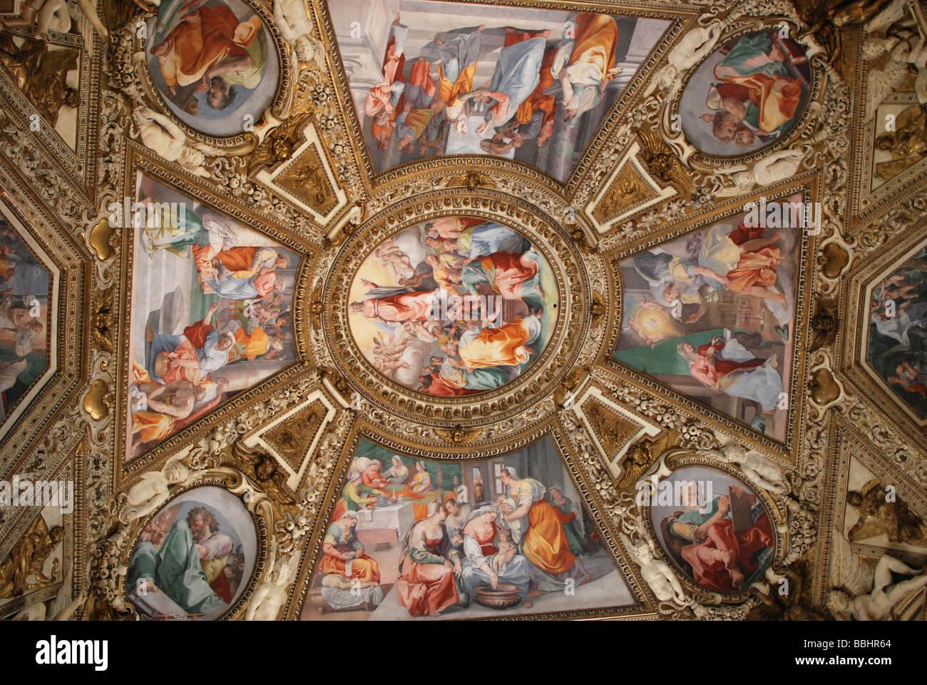 Ceiling paintings, church of Santa Maria in Trastevere