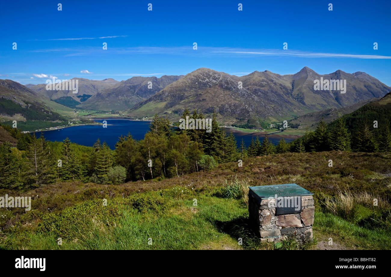 Five Sisters Mountain Range Kintail Northern Scotland