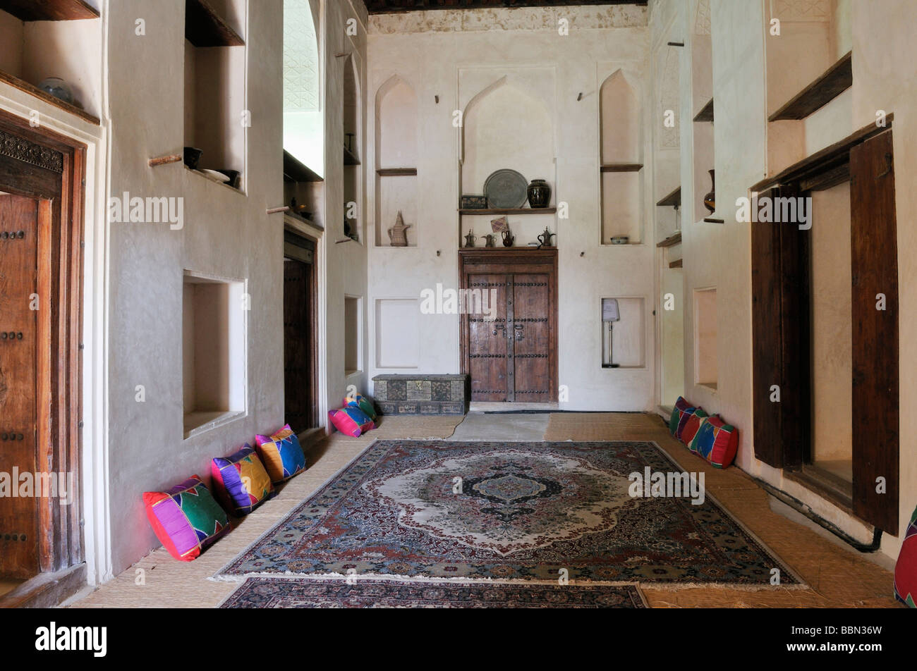 arabian living room center table traditional at jabrin castle or fort dakhliyah region sultanate of oman arabia middle east